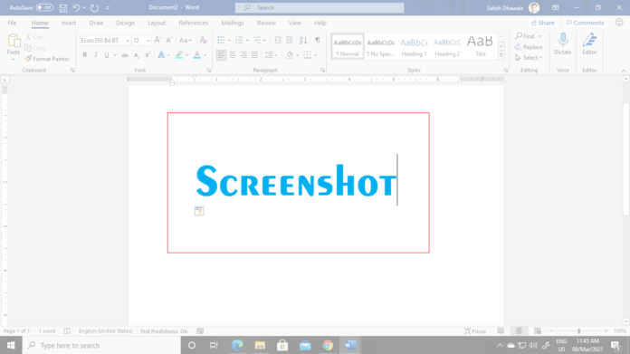 Screenshots in Computer