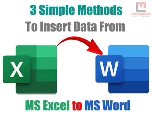 3 Simple methods to insert Data from MS Excel into MS Word in Hindi