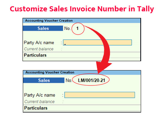 How to Customize Sales Invoice Number in Tally Explained in Hindi