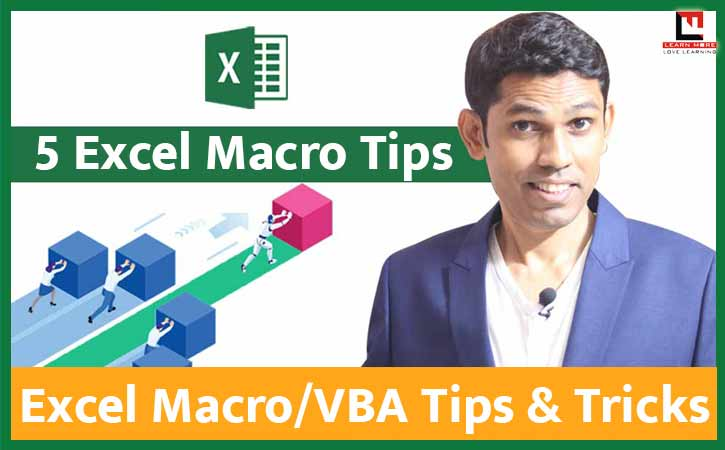 5 Helpful Excel Macro Tips (Excel VBA Tips) in Hindi (हिन्दी)